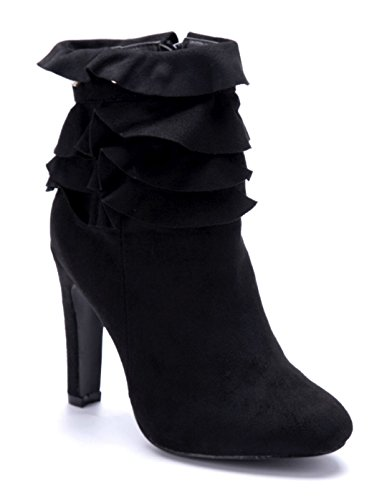 4bd4785fcde5 Schuhtempel24 Damen Schuhe Klassische Stiefeletten Stiefel Boots Stiletto  Nieten 10 cm High Heels Schwarz