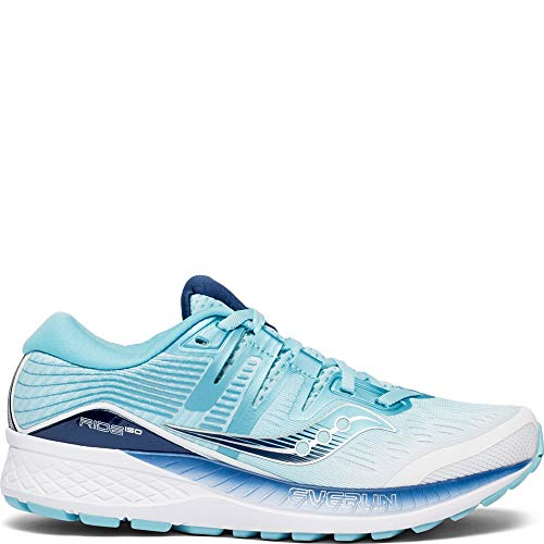 - Saucony Women's Ride ISO Shoes, White/Blue, 8