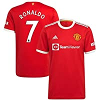 Camisa Manchester United Home 21/22 Ronaldo CR7 nº 7 Torcedor Masculina Vermelha