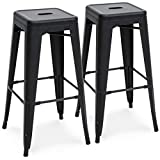 Cheap Best Choice Products 30in Set of 2 Modern Industrial Backless Metal Bar Stools – Matte Black