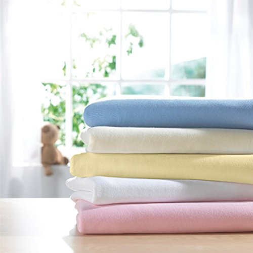 2 pack Lollipop Jersey Fitted Sheets for Cot Bed Blue or Pink 70 x 140 cm