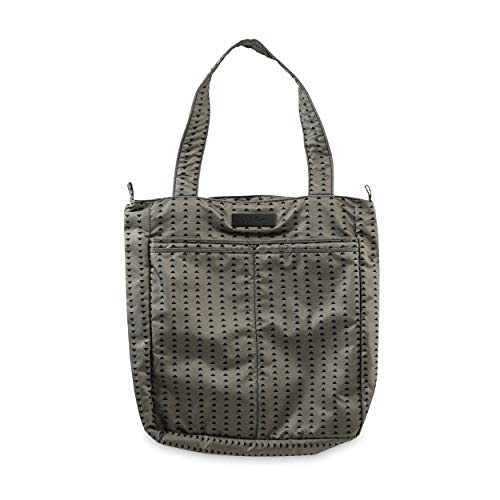 yday Lightweight Zippered Tote Bag, Onyx Collection - Black Olive ()