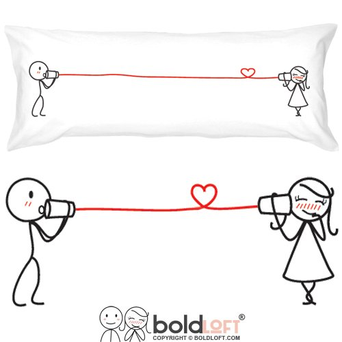 BOLDLOFT Say I Love You Body Pillowcase-Romantic Valentines Gifts for Couples,Cute Birthday Gifts for Him & Her,His and Hers Gifts for Couples,Romantic Anniversary Gifts