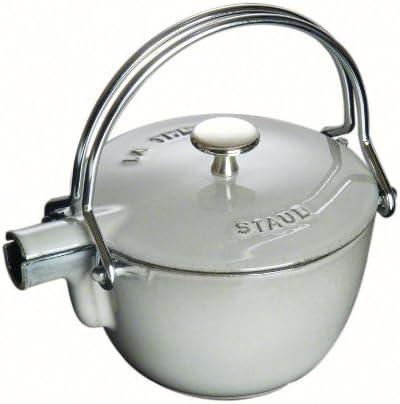 1-quart Staub 1650006 Cast Iron Round Tea Kettle Cherry