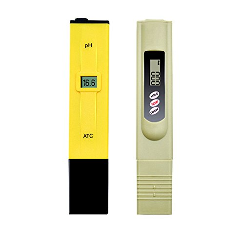 Digital PH Meter TDS Meter Water Quality Tester, Combo of +/- 0.1ph High Accuracy PH Tester and +/- 2% Readout Accuracy TDS Tester (Digital Pocket Sized Meters)