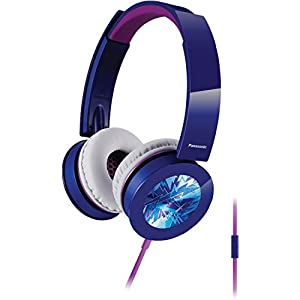 Panasonic RP-HXS400M-A Sound Rush Plus On-Ear Headphones, Blue
