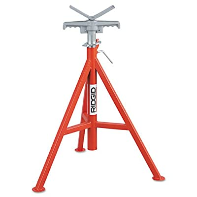 RIDGID 56662 Model VJ-99 V Head High Pipe Stand, 12-inch Pipe Stand