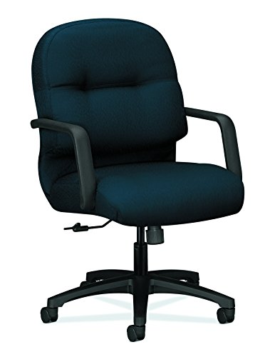 - HON Executive Chair - Pillow-Soft Series Mid-Back Office , Blue (H2092)