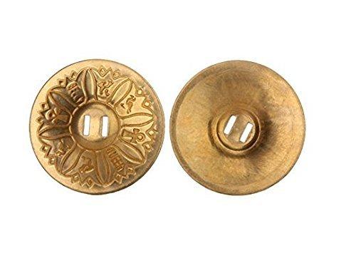 Romote 1 paire de danse du ventre Texture Motif pur doigts de cuivre Cymbales Zills