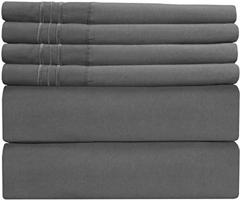 Extra Deep Pocket Sheets - 6 Piece Sheet Set - Queen Sheets Deep Pocket- Extra Deep Pocket Queen Sheets - Deep Fitted Sheet Set - Extra Deep Pocket Queen Size Sheets - Easily Fits Extra Deep Mattress