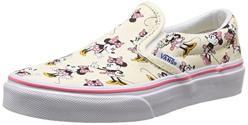 Vans Children's Disney Classic Slip-On,Minnie Mouse/Classic White,US 2.5 M -