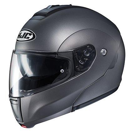 (HJC Helmets Unisex-Adult flip-up-Helmet-Style CL-MAX3 Semi Flat Titanium X-Large)