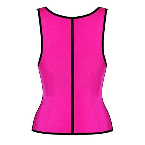 Pink Queen® Womens Latex Tummy Slimming Waist Trainer Cincher Vest M Pink