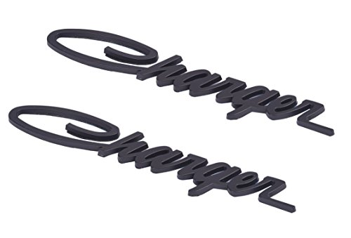 Aimoll 2pcs Charger Nameplate Emblems,Badges Decal for Dodge Charger Chrysler Mopar Finish -