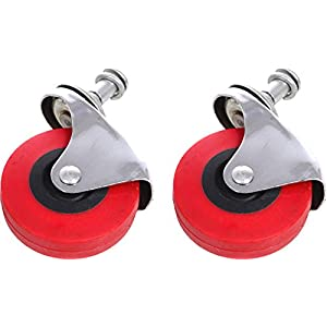 "Torin Big Red Replacement Swivel Casters, 2.5"" Wheels with Posts (Fits: Creepers, Mechanic Carts, Stools), 1 Pair"