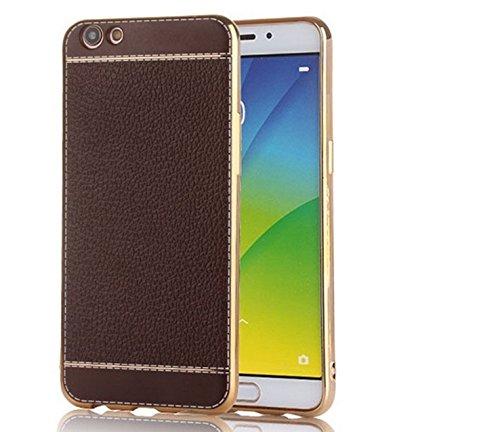 Excelsior Premium Silicon Back case Cover for Vivo V5 Plus  Coffee