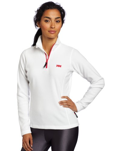 Helly Hansen Women's Day Breaker 1/2 Zip Fleece White / Red
