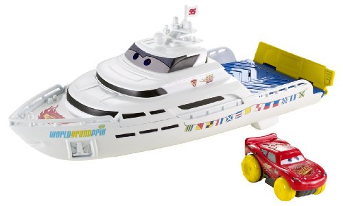 Disney Pixar Cars Playsets - Disney / Pixar CARS Hydro Wheels Playset Porto Corsa Splash 'N' Race Boat