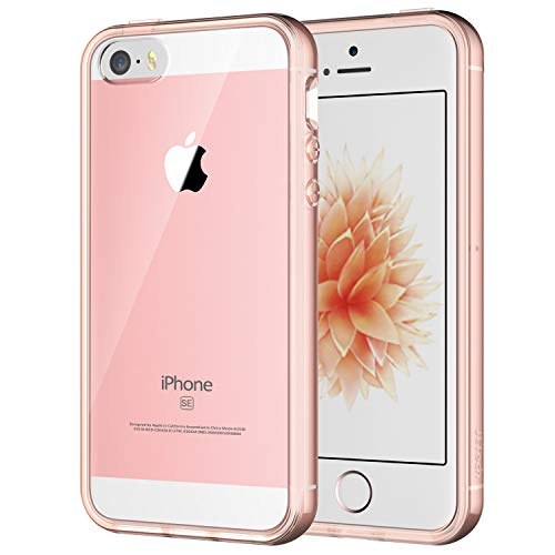- JETech Case for Apple iPhone SE 5S 5, Shock-Absorption Bumper Cover, Anti-Scratch Clear Back, Rose Gold