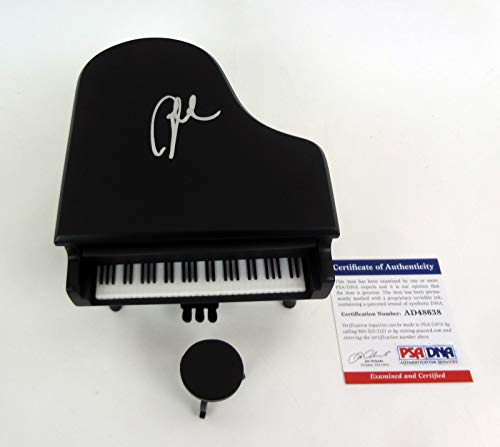 Billy Joel The Piano Man Signed Autograph Miniature Black Piano PSA/DNA COA