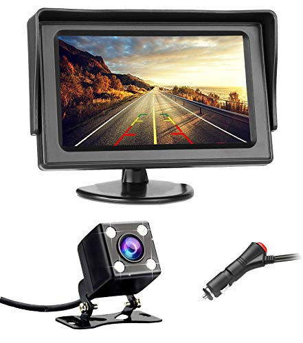 Backup Camera, LASTBUS Reversing Parking Rear View Camera + 4.3″ LCD Monitor for Car