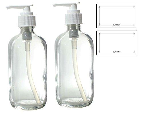 White 8 Oz Pump Bottle - 1