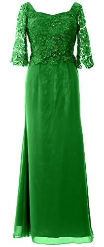 MACloth Women Half Sleeve Evening Formal Gown Maxi Mother of the Bride Dress Green g9OZoT