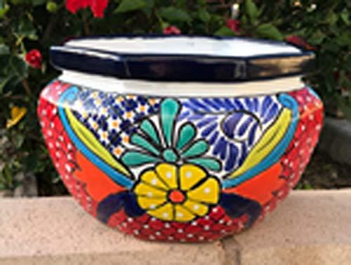 Octagon Flower - TALAVERA Ceramic Octagon Flower Pot 13