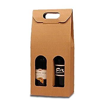 Amazon.com: Cartón Caja de cartón de botella de vino 7