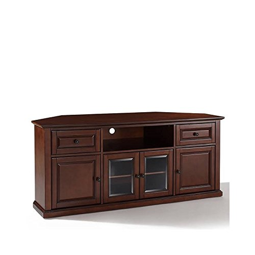 Crosley Furniture 60-inch Corner TV Stand - Vintage Mahogany (60 Inch Media Cabinet)