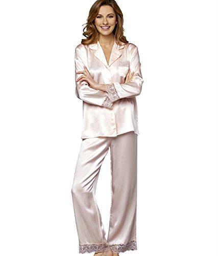 Julianna Rae Sleep-In Women's 100% Silk Pajama, Ballet, M by Julianna Rae