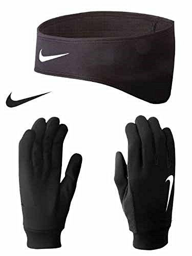 Nike Thermal Headband and Glove Women's Running Set - Medium - Black