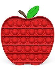 Red Apple Push Bubble Fidget Toy Anti Stress Kids Toy