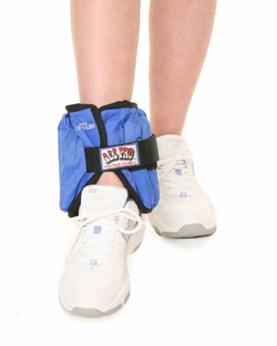 All Pro Weight Adjustable Ankle Weights , 10 pounds (1 single ankle weight) by All Pro