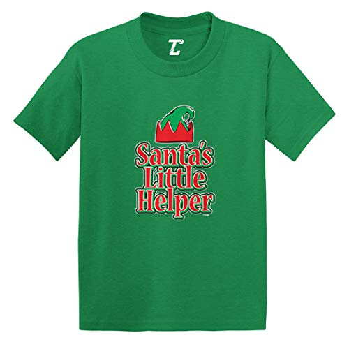 Santa's Little Helper - Elf Christmas Infant/Toddler Cotton Jersey T-Shirt (Kelly, 18 Months) -