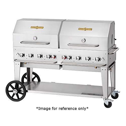 Crown Verity CV-MCB-60-1RDP-NG Mobile Outdoor Natural Gas Charbroiler, 58