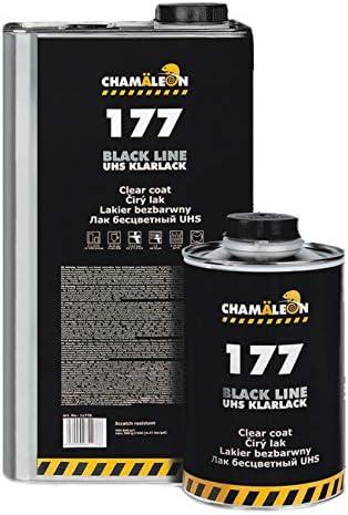 Chamäleon Uhs Klarlack 1l 2k Acryl Lack 2 1 Kratzfest HÄrter Standart 0 5l Black Line Auto