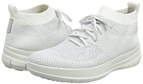Sneaker Top Multicolore Fitflop on Slip Uberknit High metallic Donna Alto 567 Collo Silver White urban 4qw4IHXnx