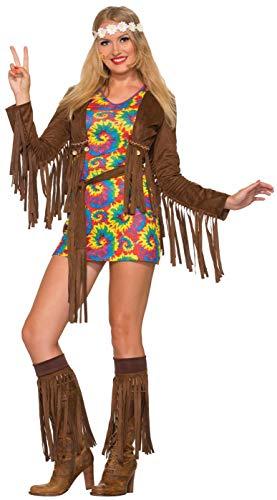 Forum Novelties Women's Hippie Shimmy Costume Mini Dress,