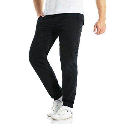 Colore Abbigliamento Primavera Da Lunghi Di Pantaloni Moda Festivo Casual Estate Puro Schwarz Uomo Coulisse Sportivi wP887dqY