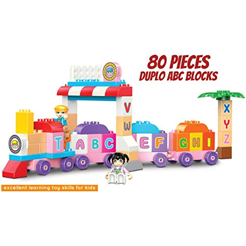 Details about Duplo Blocks ABC Learning Train Building Set Alphabet Early  Educational Toy (80