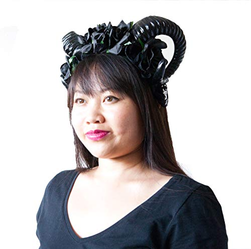 Hit Delights Cute Horns Headwear for Costumes, Halloween and Cosplay (Black)
