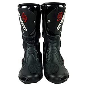 NEW Men's Motorcycle Racing Boots Black US 11 EU 45 UK 10