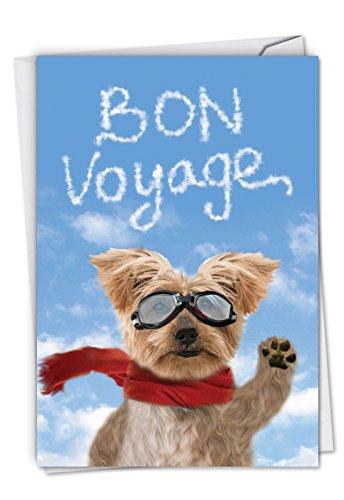 Goodbye Dog: Humorous Bon Voyage Greeting Card, with Envelope. C6345BVG