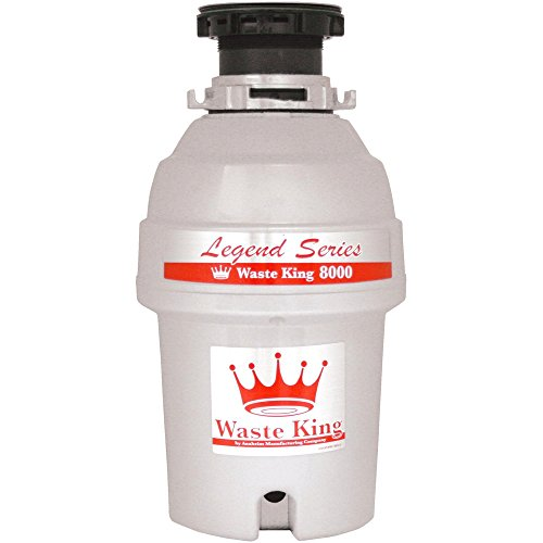 Feed Refurbished (Waste King Legend Series 1 HP Continuous Feed Garbage Disposal with Power Cord - (L-8000) (Certified Refurbished))
