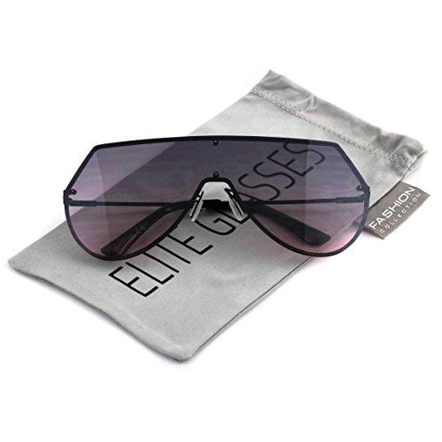 Oversize Aviator Oceanic Rimless Sunglasses product image