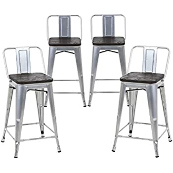 Amazon Com Buschman Set Of 4 Grey Wooden Seat 24 Inches