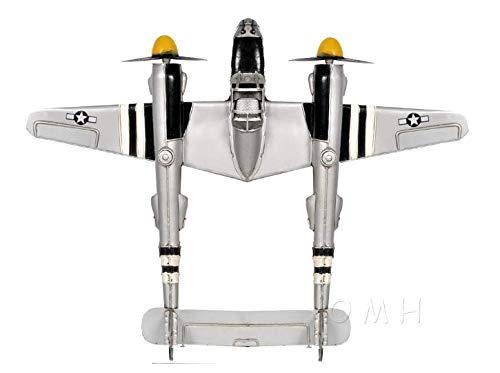 (Planejunkie Aviation Desktop Model - 1941 Lockheed P-38 Lightning Fighter)