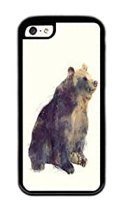 Zheng caseApple Iphone 5C Case,WENJORS Cute Bear Nova Soft Case Protective Shell Cell Phone Cover For Apple Iphone 5C - TPU Black