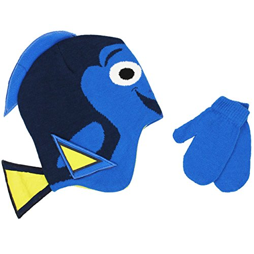 Finding Dory Nemo Toddler Beanie Hat and Mittens Set (One...